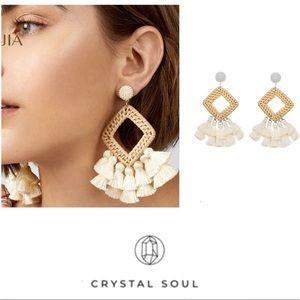 Just In🎉Bohemian Rattan Tassel drop Earrings